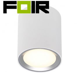 Nordlux 'Fallon' long' LED opbouwspot geborsteld Staal 8.5W 500Lm 2700K warm wit 120mm