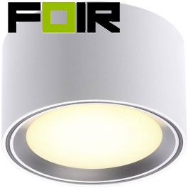 Nordlux 'Fallon' 6 LED Opbouwlamp geborsteld staal 8.5W 500Lm 2700K warm wit