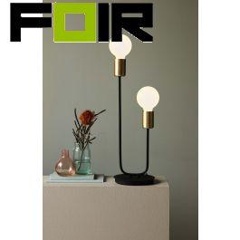 Nordlux 'Josefine' tafellamp 2xE27 mat zwart 440mm