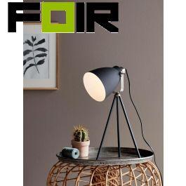 Nordlux 'Largo' driepoot tafellamp zwart E27 fitting 515mm