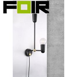Nordlux 'Manhattan' wandlamp zwart modern E27 fitting Design for the People