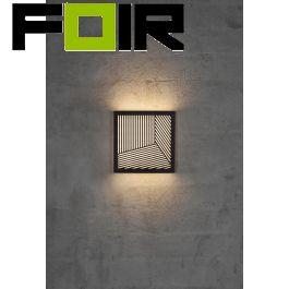 Nordlux 'Maze' Straight LED wandlamp zwart 10W 700Lm 3000K warm wit buitenlamp