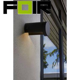 Nordlux 'Mino' antraciet wandlamp 7W LED Wandleuchte Aluminium zwart IP54