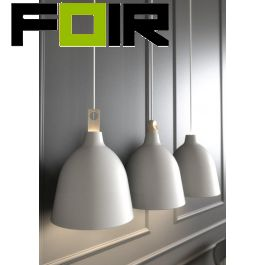 Nordlux 'Moku 29' hanglamp metaal hout E27 fitting grijs 290mm