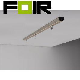 Nordlux 'Monte' plafondbalk 3 uitgangen brushed staal 113cm lengte