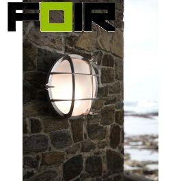 Nordlux 'Polperro' wandlamp nikkel  E27 buitenlamp 195mm