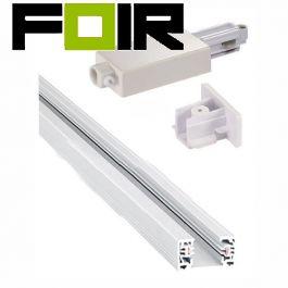 Nordlux 'Link 1M' retailverlichting Fasespoor 1m metaal wit