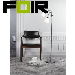 Nordlux 'Ray Double' zilver staande lamp modern vloerlamp 159cm