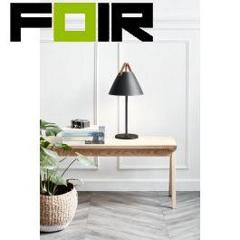 Nordlux 'Strap' tafellamp zwart E27 fitting modern 55cm