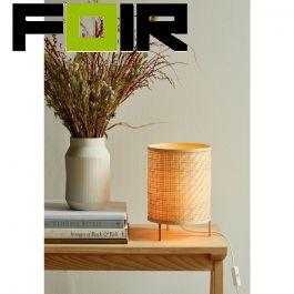 Nordlux 'Trinidad' modern bamboe tafellamp bureaulamp 250mm