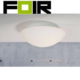 Nordlux 'Ufo Maxi' Plafondlamp 2xE27 glas metaal wit IP44