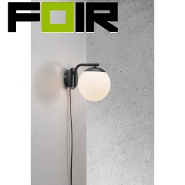 Nordlux 'Grant' zwart wandlamp E14 fitting 145mm