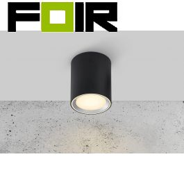 Nordlux 'Fallon Long' 6 LED opbouwspot zwart 8.5W 500Lm 2700K warm wit