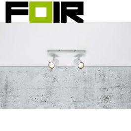 Nordlux plafondspot 'Frida' wit led lamp 2x GU10 verstelbaar modern 290mm