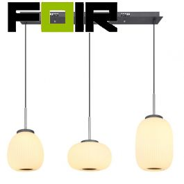 Hanglamp set 'Boomer' opaal glas modern 3 lampen led lamp 930mm