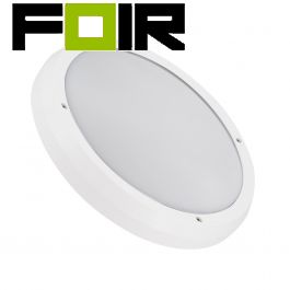 Plafondlamp wit 'Curs' buitenlamp 2x E27 fitting 300mm