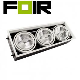 Plafondspot verstelbaar inbouw CREE-COB 45W AR111 LED spotlight (dimbaar)
