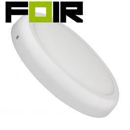 Plafondlamp Rond wit design 24W LED opbouw paneel 300mm
