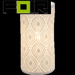 Porselein tafellamp 'Cendres' E14 fitting 200mm
