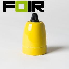 E27 fitting Porselein geel