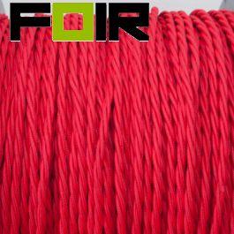 Strijkijzersnoer Rood gevlochten