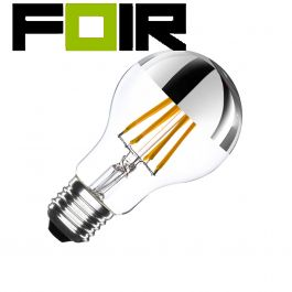 A60 E27 6W reflecterende filament LED lamp (dimbaar)
