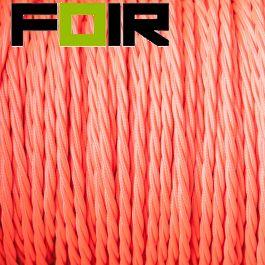 Strijkijzersnoer Fluor roze gevlochten