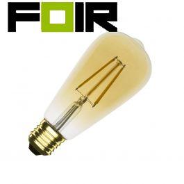 ST64 E27 5.5W goud / gold LED lamp (dimbaar)