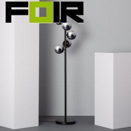 Vloerlamp bollen 'Kurota' modern bollen chrome 149cm