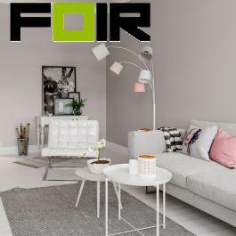 By Rydens vloerlamp 'Foggy' modern 5x E14 fitting stoffen kappen 200cm