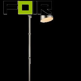 Staande lamp 'Archibald' chroom nikkel staal mat E14 fitting