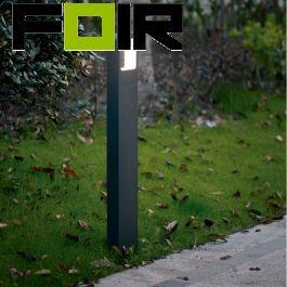 staande buitenlamp tuinlamp 800mm ingebouwde led antraciet