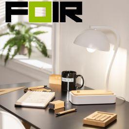 Tafellamp wit 'Bontus' minimalistisch met schakelaar e27 fitting