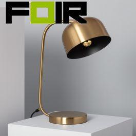 Bureaulamp modern 'Kettle' E14 fitting goud modern 430mm