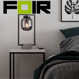 By Rydens 'Dixton' tafellamp smoke gray grijs modern 520mm