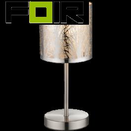 Tafellamp modern zilver 'Lort' E14 fitting 350mm