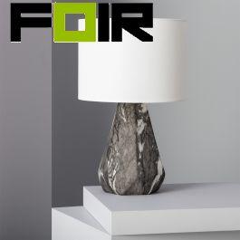 Tafellamp 'Marmer' E27 fitting modern met schakelaar en stekker 420mm