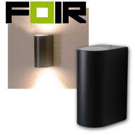 Wandlamp antraciet downlight & uplight IP44 10W