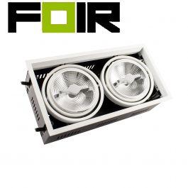 Plafondspot Verstelbare dubbele CREE-COB wit 30W AR111 LED spotlight (dimbaar)