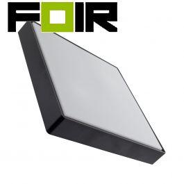 Buitenlamp 'Jilles' zwart vierkant 2x E27 400mm