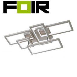 WOFI Viso LED LED hanglamp mat nikkel 83W dimbaar 3000K warm wit