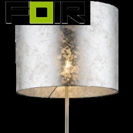 Staande lamp zilver textiel 'Amy' E27 fitting 160cm