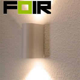Led wandlamp dubbel buiten 'Boston' Aluminium 2x 5W led gu10 wit