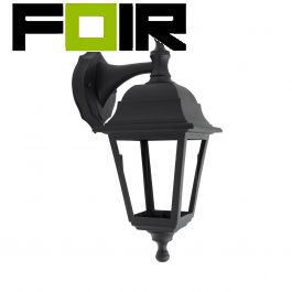 Cottage wandlamp zwart downlight klassiek E27