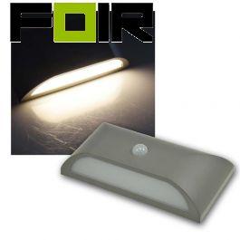 Buitenlamp met bewegingsmelder grijs Led 6W IP65 PIR sensor