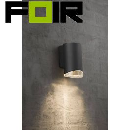 Nordlux 'Arn' downlighter GU10  Aluminium zwart IP44 waterdicht
