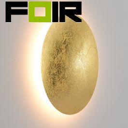 Led wandlamp 'Ayla' groot rond led modern 260mm (4 kleuren)-Goud