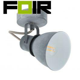 Wandlamp beton grijs industrieel E14 fitting