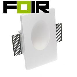 Inbouwlamp 'Caryle' LED inbouw wandlamp gips 1W