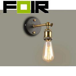 Industriële wandlamp hoek 'Ethan' E27 fitting hoeklamp (zonder schakelaar)